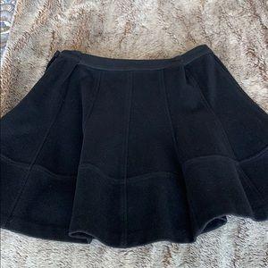 Elizabeth and James black wool skirt, size 8.